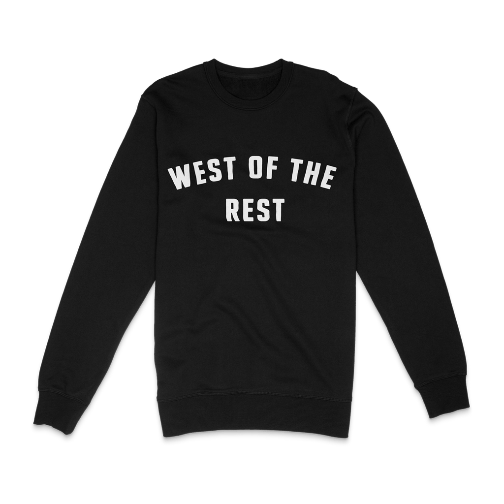 Freo Goods Co 'West Of The Rest' Sweater · Mens in Black. Compendium Design Store, Fremantle. AfterPay, ZipPay accepted.