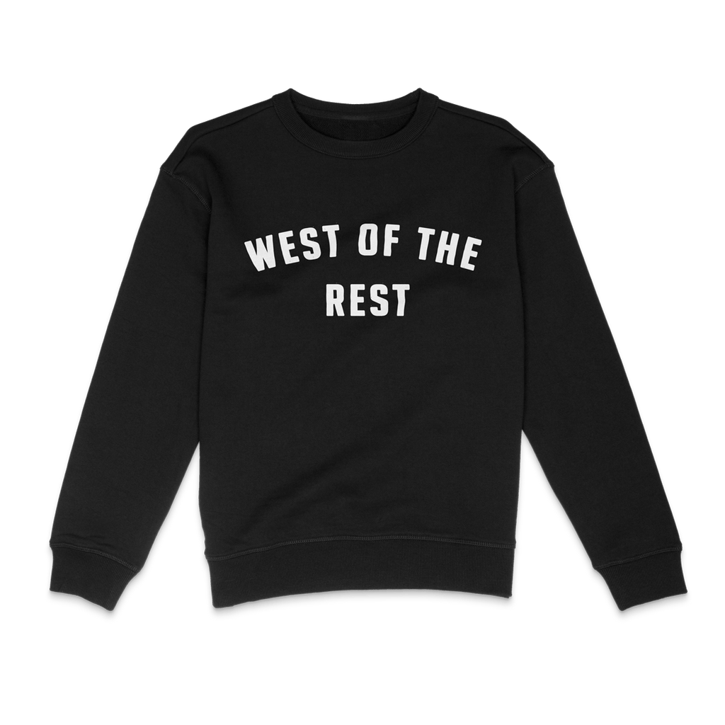 Freo Goods Co 'West Of The Rest' Sweater · Womens in Black. Compendium Design Store, Fremantle. AfterPay, ZipPay accepted.