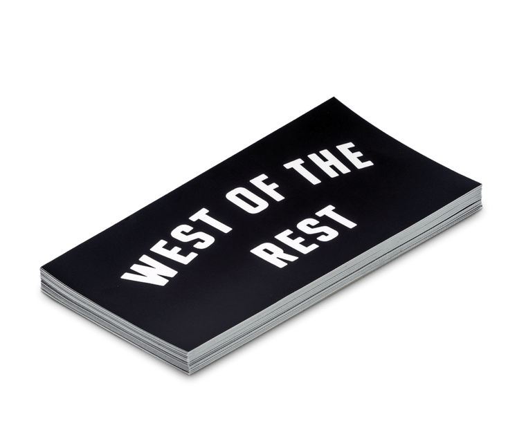 'West of the Rest' Bumper Sticker