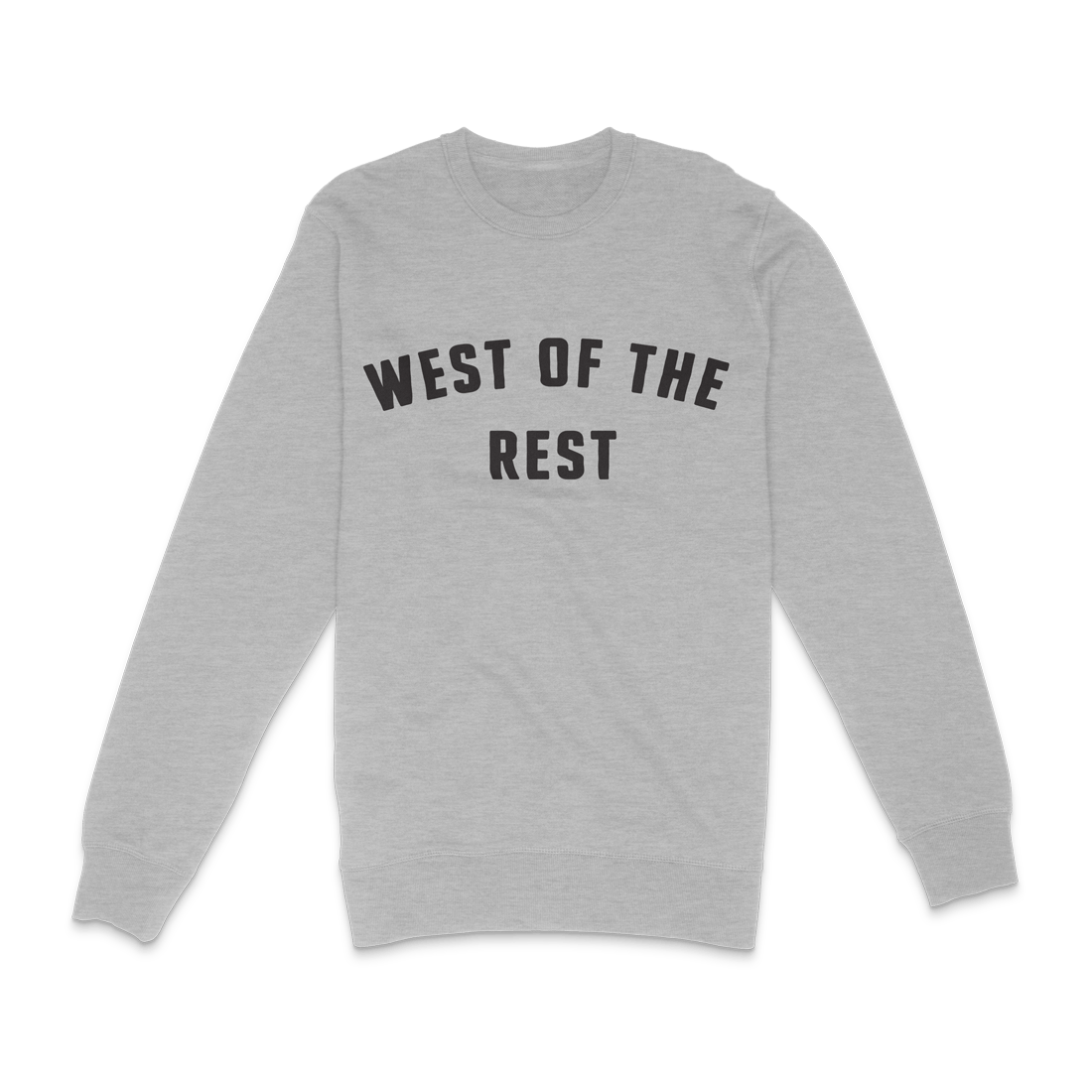 Freo Goods Co 'West Of The Rest' Sweater · Mens in Grey Marle. Compendium Design Store, Fremantle. AfterPay, ZipPay accepted.