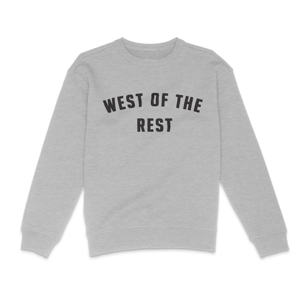 Freo Goods Co 'West Of The Rest' Sweater · Womens in Grey Marle. Compendium Design Store, Fremantle. AfterPay, ZipPay accepted.