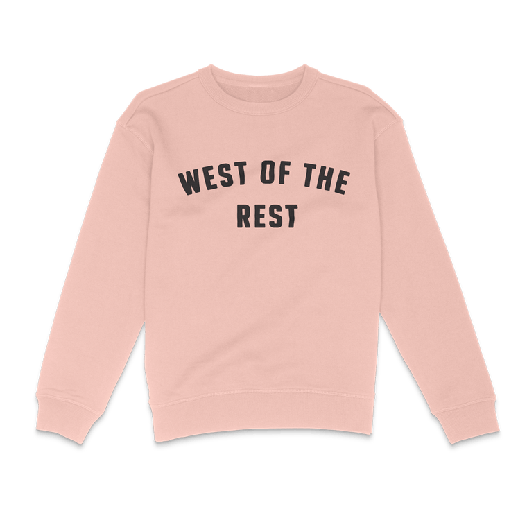 Freo Goods Co 'West Of The Rest' Sweater · Womens in Pale Pink
