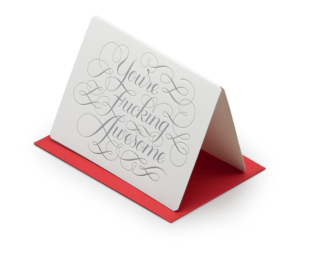You're F*cking Awesome greeting card. The Hungry Workshop. Compendium Design Store. AfterPay, ZipPay accepted.