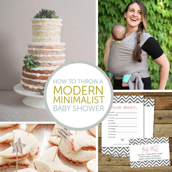 How to Throw a Modern Minimalist Baby Shower