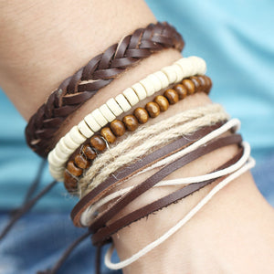 Braided Leather Set