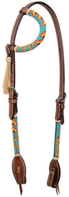 Cody Pro Native American Beaded One Ear Headstall, Turquoise