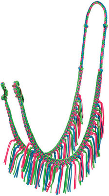Braided Barrel Rein with Fringe