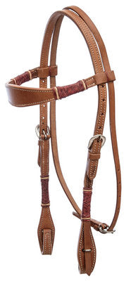 Headstall - Buffalo Leather Rawhide Collection