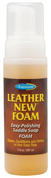Leather New Foam Saddle Soap, 7 oz pump