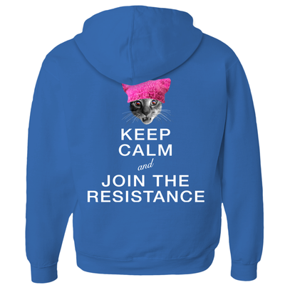 Keep Calm and Join the Resistance (with Francis Junior, Jr.) Hoodies (Zip-up)