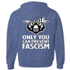 Only You Can Prevent Fascism - With RESIST Bear - Hoodies (Zip-up)