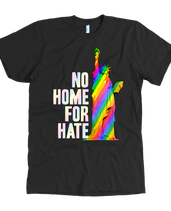 No Home For Hate (with Statue of Liberty) Rainbow