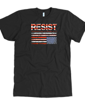 Resist (with American Flag in Distress)