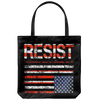 RESIST (with American Flag in Distress) Tote bag