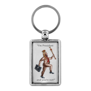 The (So-Called) President Has No Clothes (Keychain)