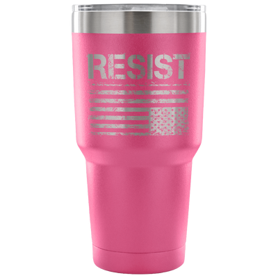 Resist (with American Flag in Distress) Tumbler