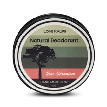 Load image into Gallery viewer, Natural Deodorant - Rose Geranium - Lone Kauri