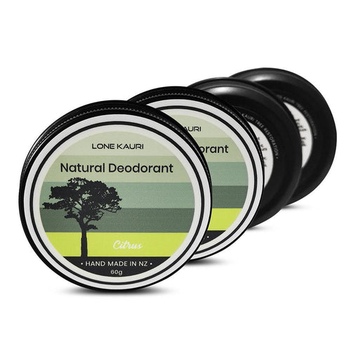 Family pack natural deodorant