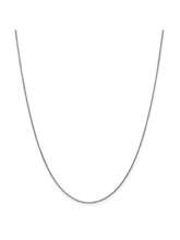 Load image into Gallery viewer, 14k White Gold .9mm Cable Chain Necklace