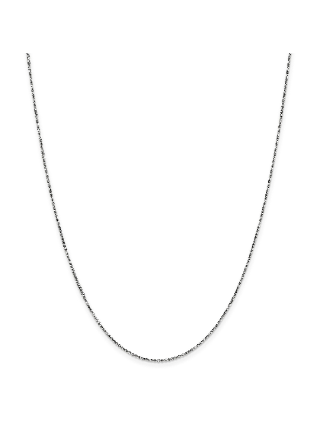 14k White Gold .9mm Cable Chain Necklace