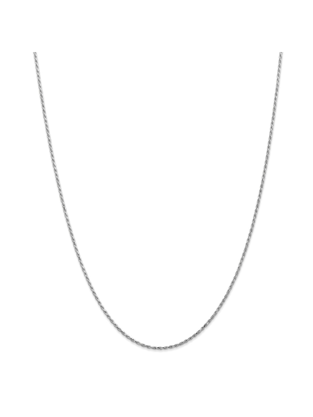 10k White Gold 2.25mm D/C Extra-Lite Rope Chain Necklace