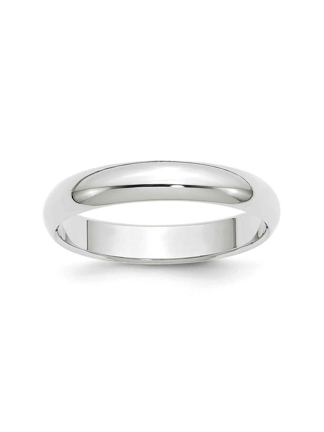 Standard Fit Domed Ring in 14k White Gold - 4 Mm