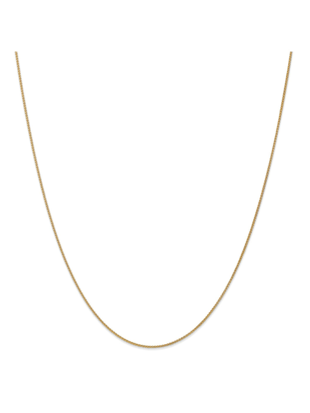 14k Yellow Gold 1.1 Wheat Chain Necklace