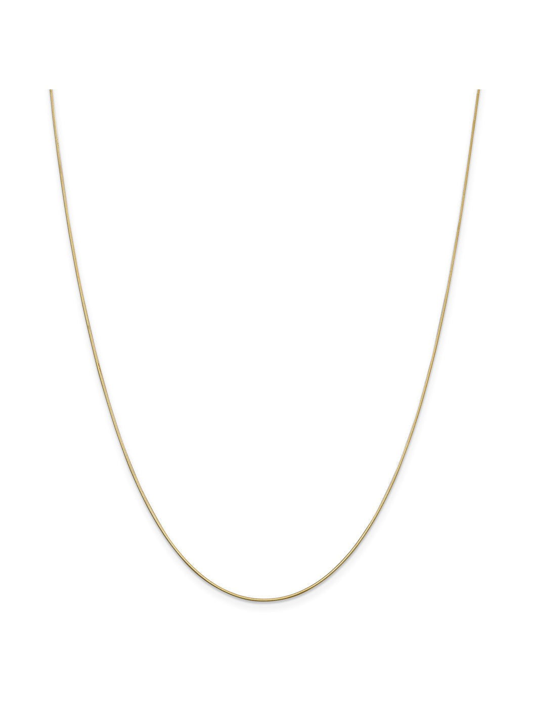 14k Yellow Gold 0.8mm Octagon Snake Chain Necklace
