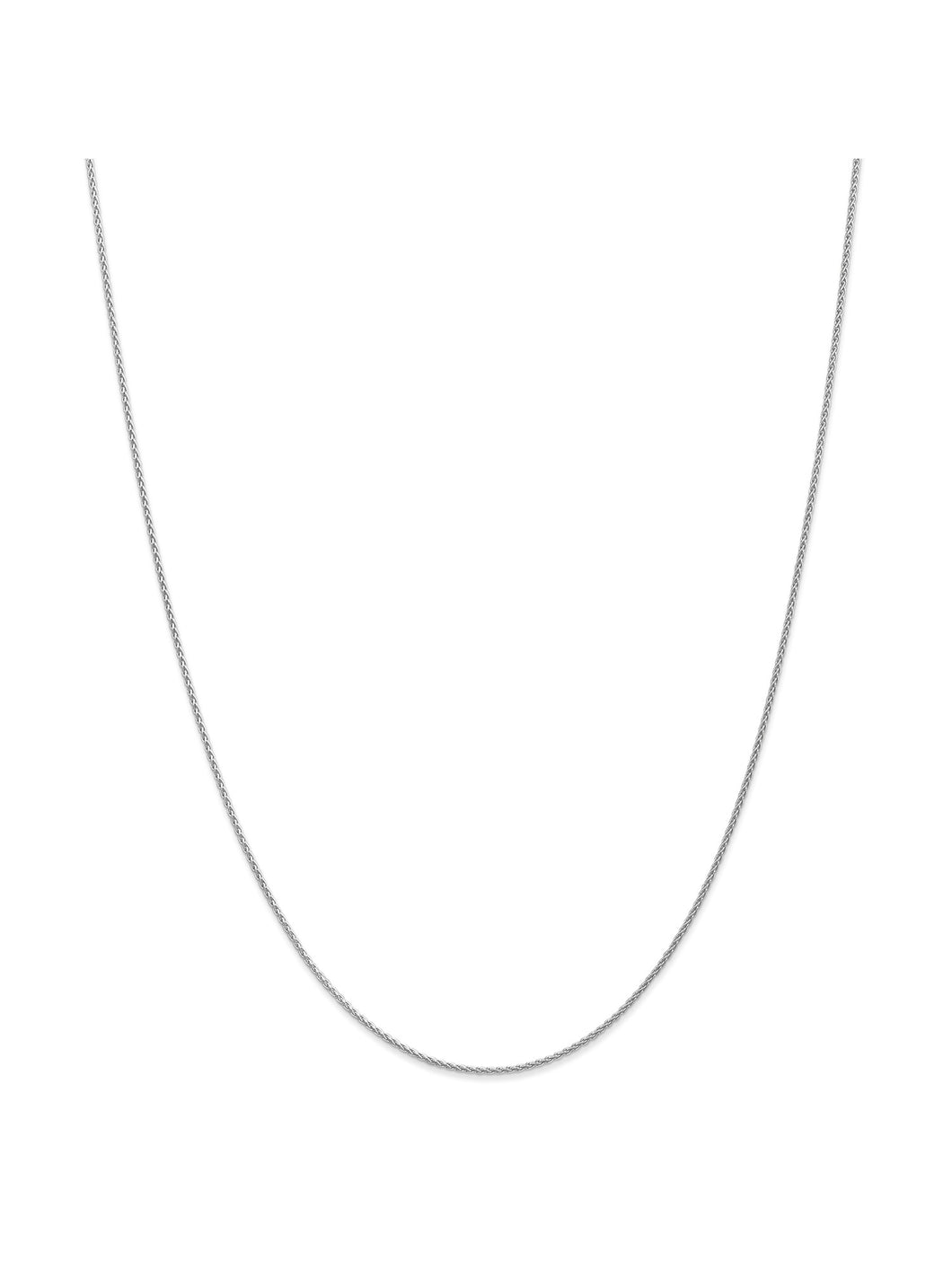 14k White Gold 1.2mm Parisian Wheat Chain Necklace