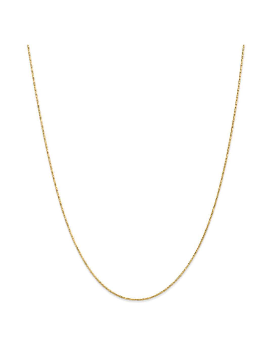 14k Yellow Gold 0.95mm Wide Wheat Chain Necklace