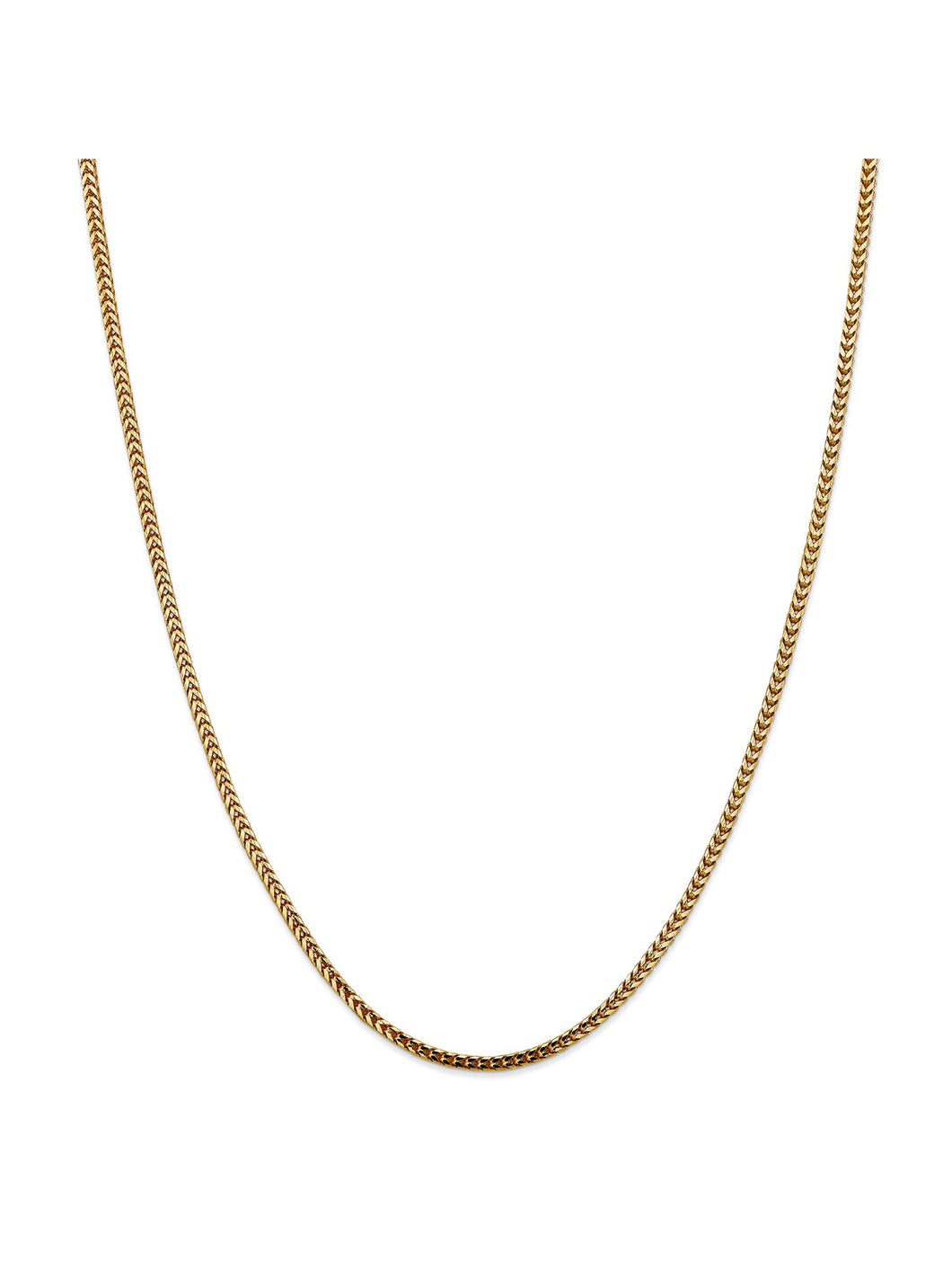 14k Yellow Gold 2.5mm Franco Chain Necklace