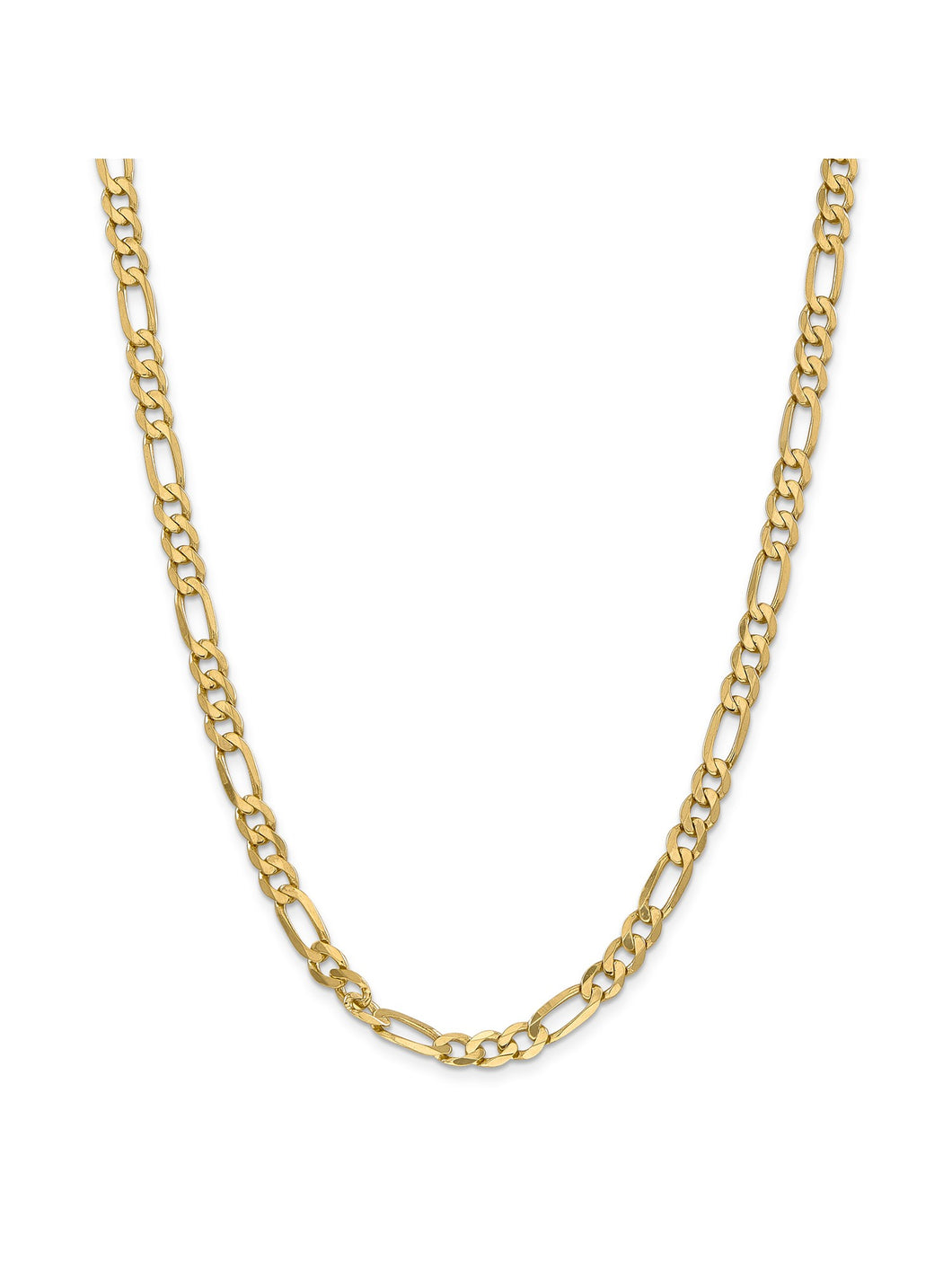 14k Yellow Gold 6.25mm Flat Figaro Chain Necklace