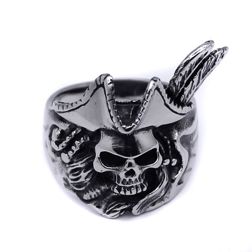 Men's Stainless Steel Pirate Skull Ring