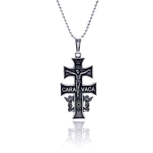 Silver oxidized cross pendant (Chain Not Included)