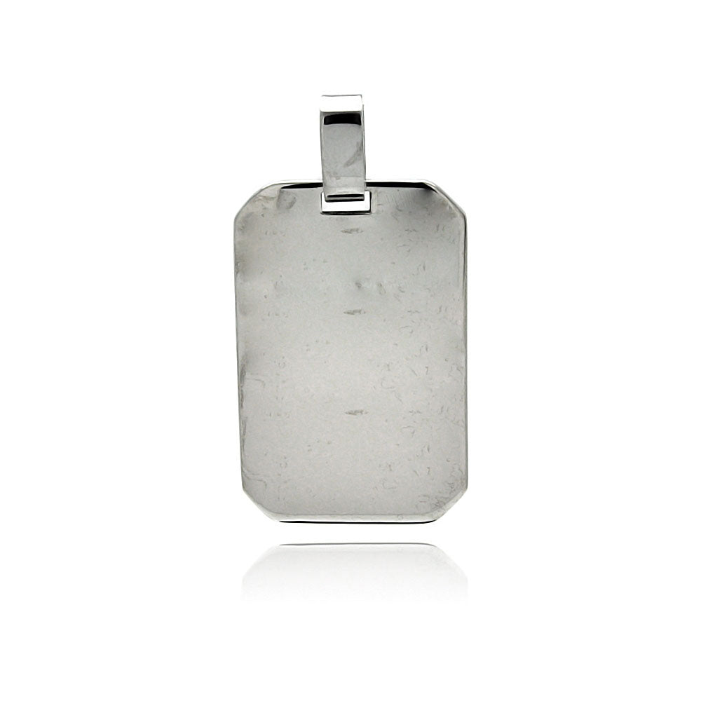 Stainless Steel High Polish Dog Tag Charm Pendant