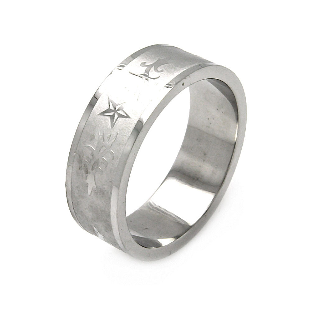 Men's Stainless Steel Star Design Ring