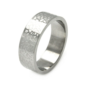 Men's Stainless Steel Rock Design Ring