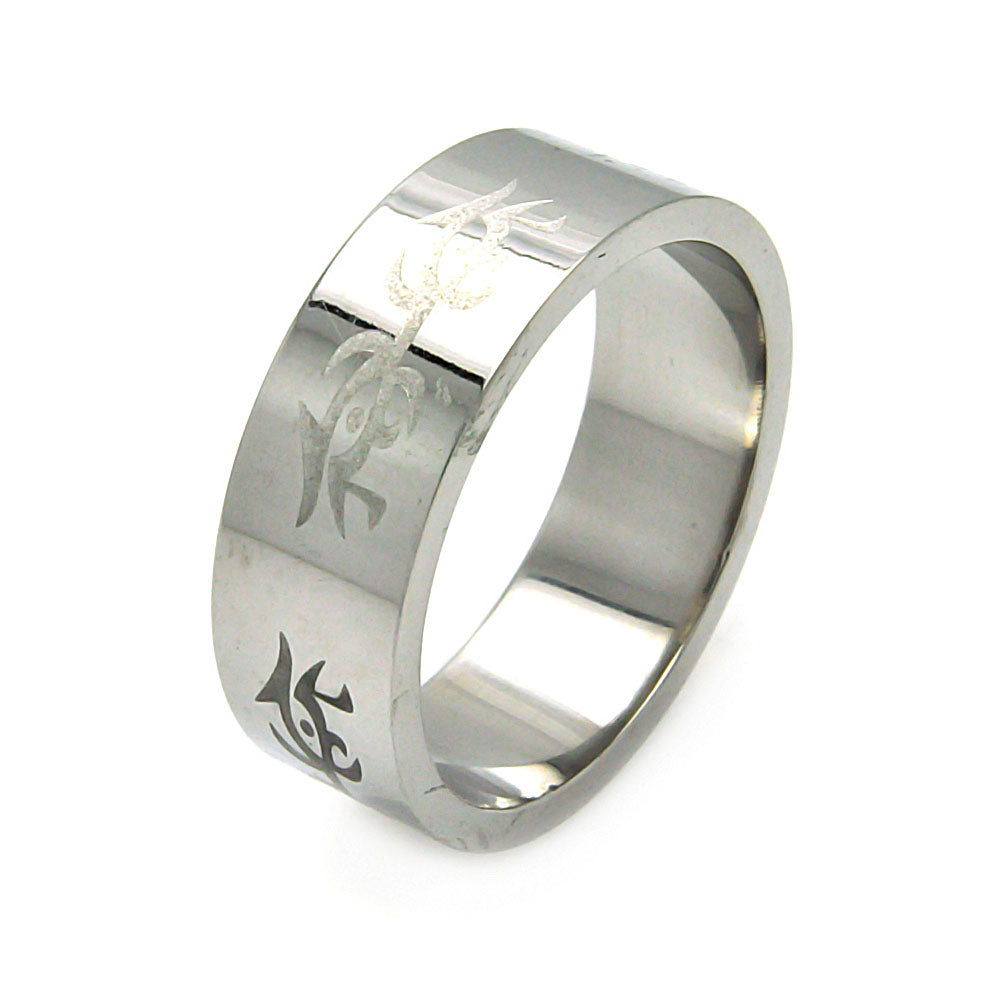 Men's Stainless Steel Abstract Design Ring