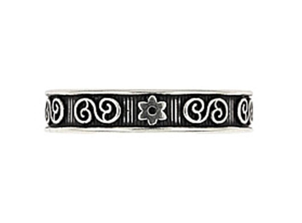 925 Sterling Silver  Celtic And Floral Adjustable Toe Ring