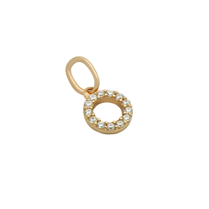 .925 Sterling Silver Rose Gold Plated 7mm Cubic Zirconia Eternity Circle Pendant