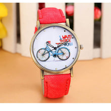 Load image into Gallery viewer, Luxury Brand Leather Quartz Watch Ladies Dress Watches Casual Bicycle Watch Women