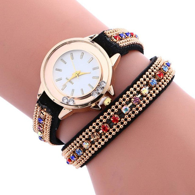 Genvivia Quartz Watch Women Luxury simple Bracelet relogio de pulso feminino Leather