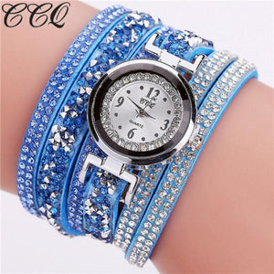 Mens Watches Top Brand Luxury CCQ Watch Casual Analog Quartz Women Men Rhinestone