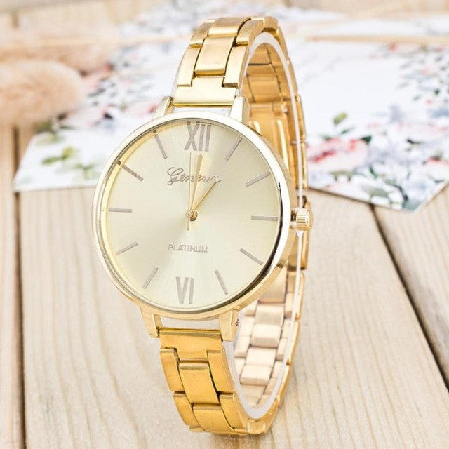 Ladies Watches Sliver Gold Watch Women Luxury Dress Women's Fashion Stainless