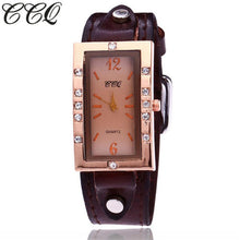 Load image into Gallery viewer, Luxury Brand CCQ Vintage Leather Rectangle Bracelet Watches Women