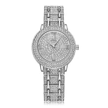Load image into Gallery viewer, Women Watch Gold Rhinestone Crystal Analog Quartz Wristwatch Lady dress