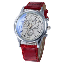Load image into Gallery viewer, Luxury Geneva PU Leather Strap Quartz  Fashion Wristwatches For Men Relogio Masculino #23