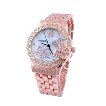 Load image into Gallery viewer, Luxury Fashion Women Watches Ladies Rose Gold Sliver Watch Stainless Crystal