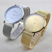 Load image into Gallery viewer, 2017 Luxury Ladies Dress Watches Women Quartz Watch Stainless Steel Gold Silver