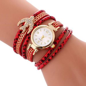 Luxury Brand Women Diamond Bracelet Circle Wristwatch Clock Ladies Casual Vintage